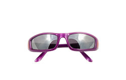 Purple fashion glasses on white Royalty Free Stock Images