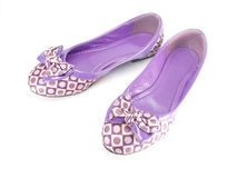 Purple fashion shoes Royalty Free Stock Image
