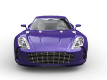Purple fast sports car - front view Stock Image