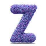 Purple faux fur LETTER Z 3D illustration. Purple faux fur LETTER Z 3D render illustration isolated on white background Royalty Free Stock Images