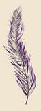 Purple feather stock illustration