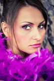 Purple feathers Royalty Free Stock Photo