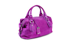 Purple female bag-2 Royalty Free Stock Photo
