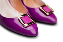 Purple female shoes-1 Stock Photography