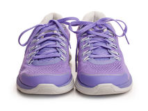 Purple female sport shoes Royalty Free Stock Images