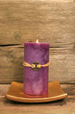 Purple Feng Shui candle Stock Photography