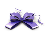 Purple festive bow Royalty Free Stock Photo