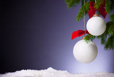 Purple Festive Christmas background. Stock Image