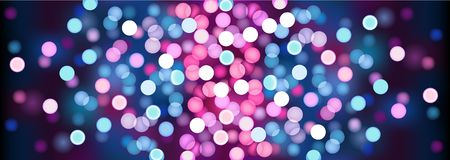 Purple festive lights. Vector illustration. stock illustration