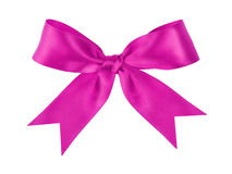 Purple festive tied bow made from ribbon Royalty Free Stock Photography