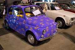 Purple FIAT 500 at Milano Autoclassica 2016 Royalty Free Stock Image