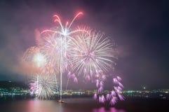 Purple Firework Display Royalty Free Stock Images