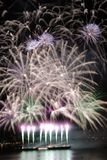 Purple Fireworks Royalty Free Stock Photography