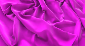 Purple Flag Ruffled Beautifully Waving Macro Close-Up Shot 3D Re. Ndering Studio Royalty Free Stock Images