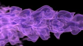 Purple flame on black. 3d rendering of a purple plasma flame on a black background stock video