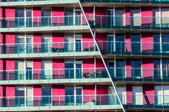 The purple flats of block. Purple flats of block with balconies Stock Photography