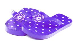 Purple Flip Flops Stock Photos
