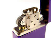 Purple flip lighter Royalty Free Stock Photography