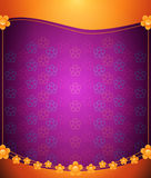 Purple floral background Royalty Free Stock Photos