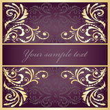 Purple floral background. Royalty Free Stock Photo