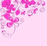 Purple floral background Stock Image