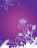 Purple Floral Background. Purple and lavender abstract floral background.  Space for copy Royalty Free Stock Photo