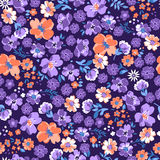 Purple floral background vector illustration