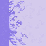Purple floral background Stock Photo