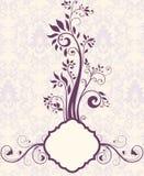 Purple Floral Bridal Shower Invitation Royalty Free Stock Photo