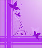 Purple floral design Stock Photos