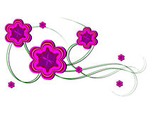 Purple floral design Royalty Free Stock Photo