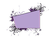 Purple Floral Frame Royalty Free Stock Photos