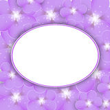 Purple floral frame Royalty Free Stock Photography