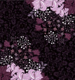Purple Floral Invitation Card,Vector Stock Images