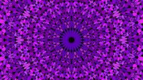 Purple floral mosaic mandala background - abstract bohemian vector graphic. Purple floral mosaic mandala background - abstract bohemian vector ornament wallpaper royalty free illustration