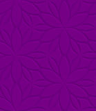 Purple floral ornament embossed seamless Royalty Free Stock Photos