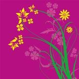 Purple Floral Ornament Vector.  Stock Images