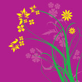 Purple Floral Ornament Vector Stock Images