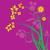 Purple Floral Ornament Vector. Excellent for your design Stock Images