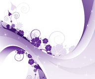 Purple floral pattern Royalty Free Stock Photo