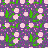 Purple Floral Pattern Stock Photography