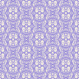 Purple floral pattern with swirls Royalty Free Stock Photo