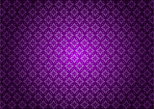 Purple Floral Pattern Vector Stock Image