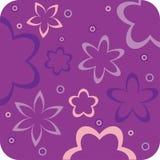 Purple floral retro wallpaper. Purple funky floral retro wallpaper Stock Photo