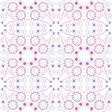 Purple floral seamless pattern Royalty Free Stock Photo
