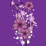 Purple floral wallpaper Royalty Free Stock Image