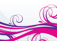 Purple floral wave Stock Photo