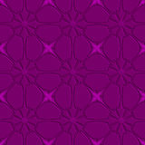 Purple flourish embossed tile ornament Stock Images