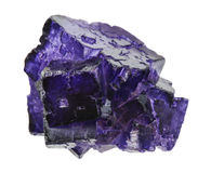 Purple flourite crystals Royalty Free Stock Photos