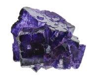 Purple flourite crystals